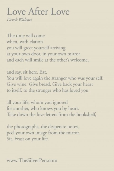 Love After Love, Derek Walcott