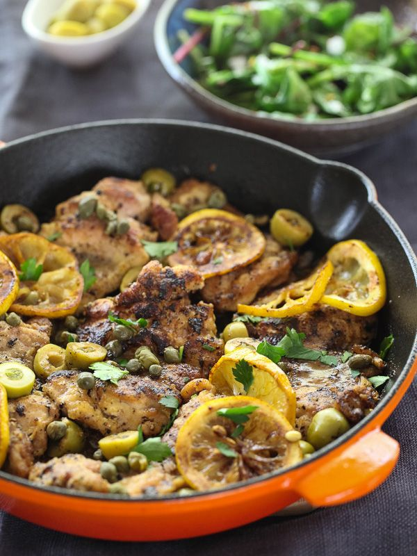 Sautéed Chicken with Olives, Capers and Lemons