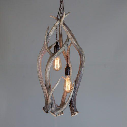 Juxtaposition in Interior Design Using Shed Antler Lighting