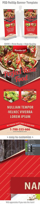 Restaurant Food Order Rollup Banner Template #design Download: http://graphicriver.net/item/restaurant-food-order-rollup-banner-65/12499660?ref=ksioks