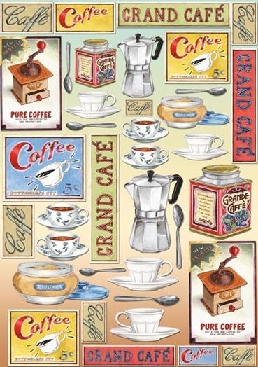 Decoupage Papier Coffee