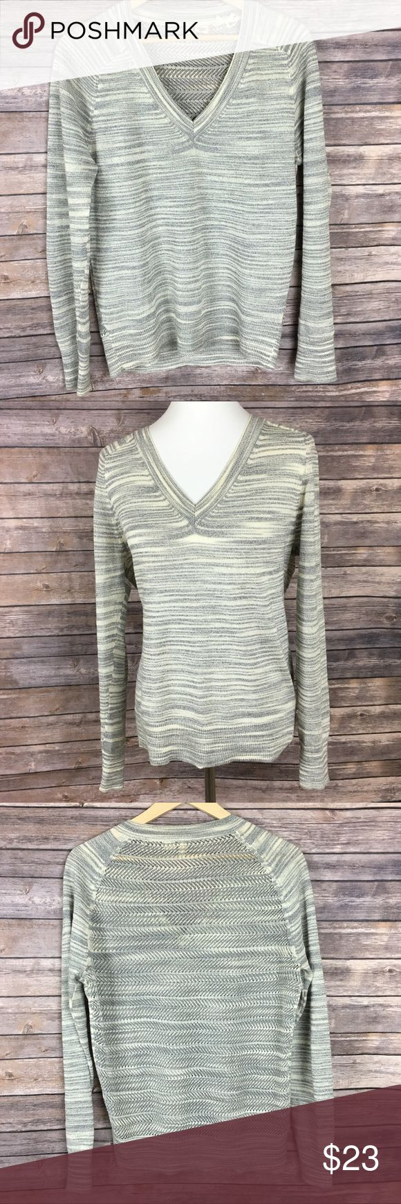 Perfect Anthropologie Moth Marled V Neck Sweater