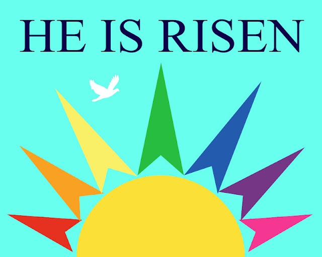 He Is Risen Printable | Church Banner Designs | Pinterest