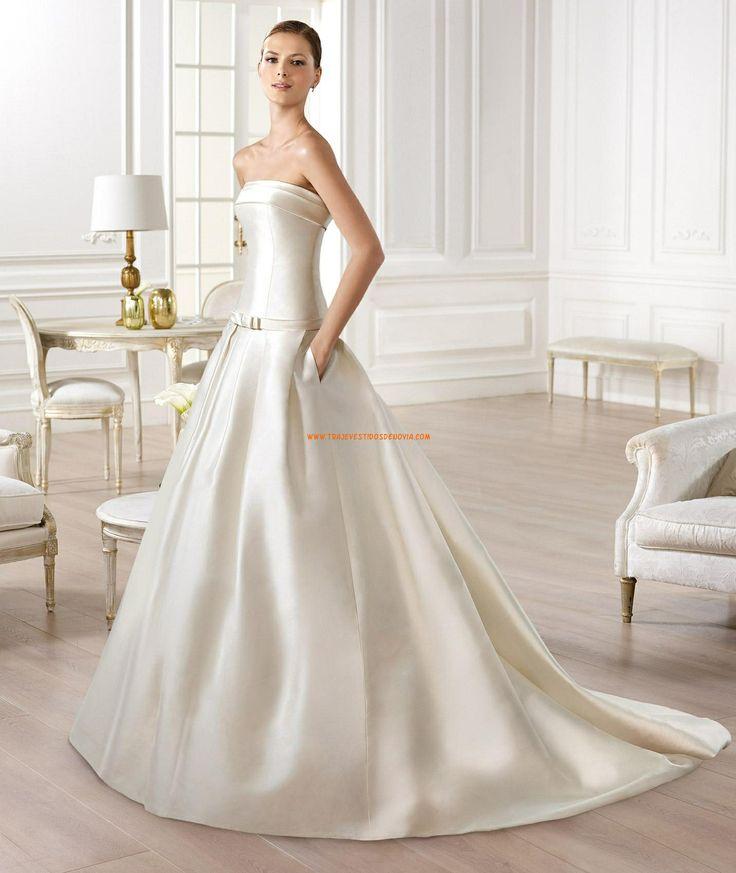 Sencillos saten vestido de novia Yency Atelier