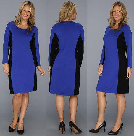 Karen Kane Plus Plus Size Side Inset Pull Over Dress