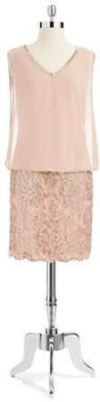 J Kara Embellished Blouson Dress