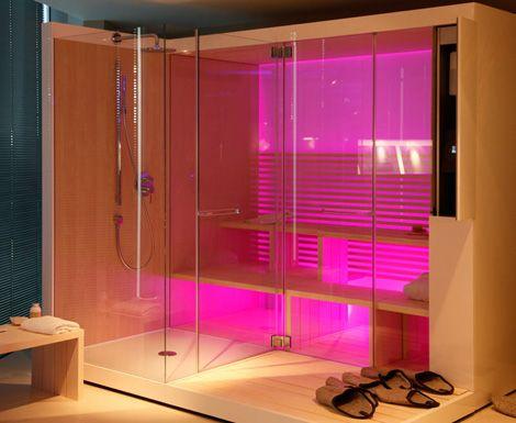 Duravit Inipi Sauna - new modern designer sauna with shower