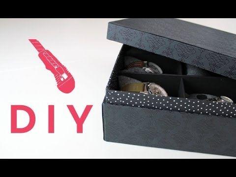 EllyBeth: DIY Cartonnage / Fabriquer une boîte à montres ou à bijoux