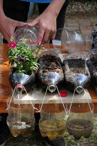 Soil Erosion Experiment This might look like such a simple experiment but it will definitely show the importance of having vegetation covering the soil to your kids! They will love this hands on experiment! #gardensoilsummer