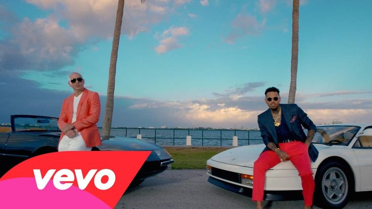 #Pitbull - #Fun ft. Chris Brown - Inspired by the 1980s cop drama, Miami Vice, from the famous pink and blue colour schemes down to the title credits