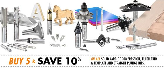 Amana Router Bits: Largest Range of Carbide Router Bits in Stock
