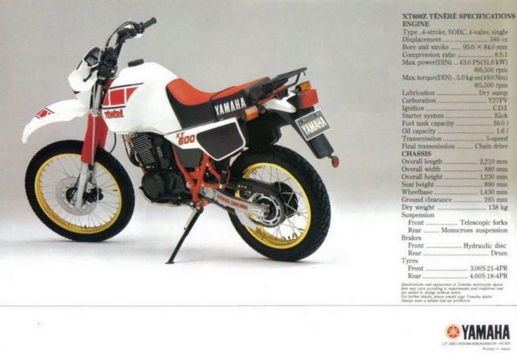 YAMAHA XT 600 Z TENERE (1983)