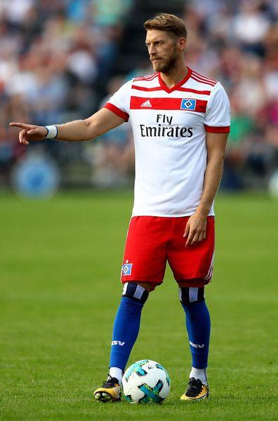 Aaron Hunt of Hamburg runs with the ball during the preseason friendly match between Holstein Kiel and Hamburger SV at Gruemmi-Arena on July 19, 2017 in Kiel, Germany.