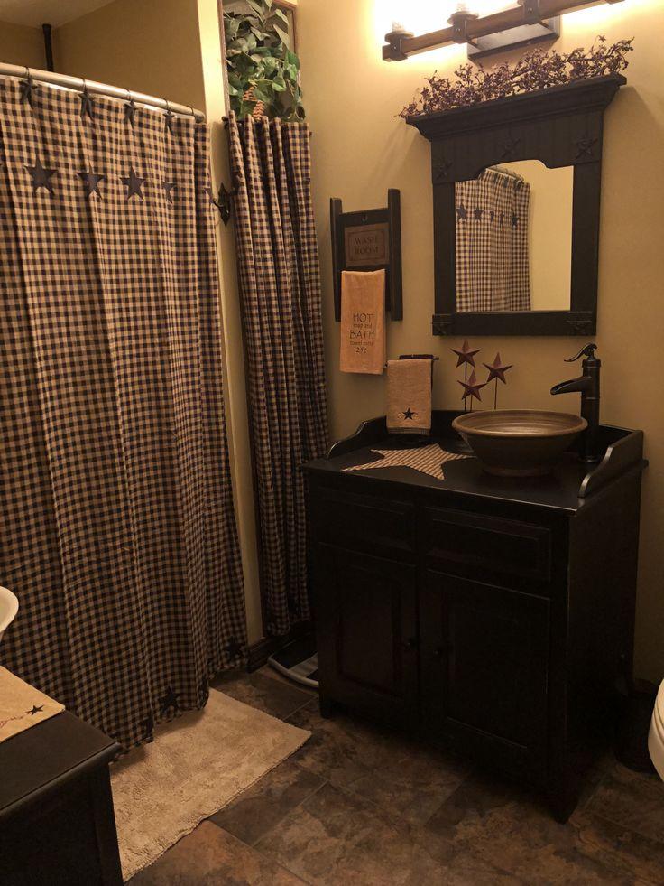 Primitive Bathroom Decor 2021 in 2020 | Primitive bathroom ...