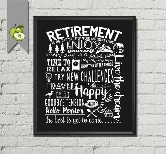 Retirement gift, Personalised Retirement Leaving, Printable