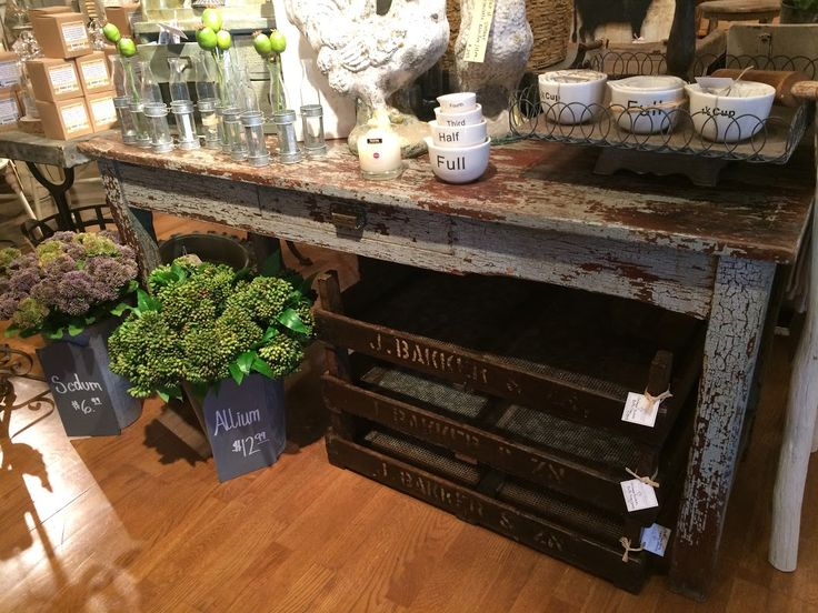 Just brought this antique farm table in this morning!   Love the color and patina on this beauty!  Ballard & Blakely Hours: Tuesday - Saturday 10:00 a.m. to 5:00 p.m. 5021 West Lovers Lane Dallas, Texas 75209