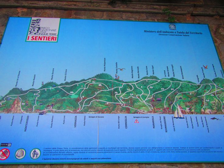 Cinque Terre Map  http://www.thegirlswhowander.com/2017/05/19/cinque-terre-highlights/