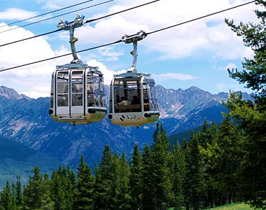 Lionshead gondola in Vail, Colorado. Ride it up and hike it down...fun summer afternoon!