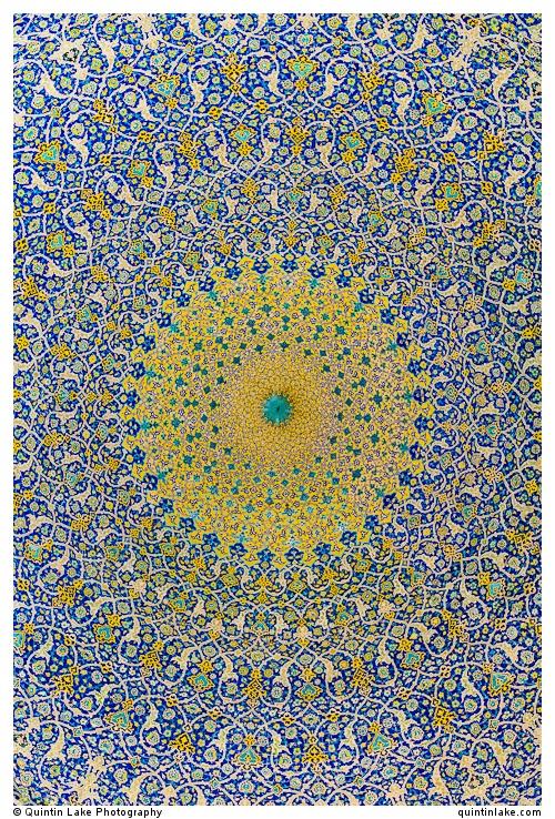 Dome of the main sanctuary. Imam Mosque, Isfahan, Iran. Photo: Quintin Lake