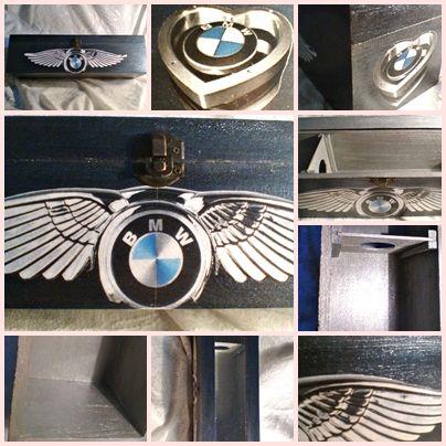 Különleges kérés egy különleges, vagány, BMW rajongónak. Belül metál ezüst, kívül sötét metálkék festékkel festve. 3,900 Ft