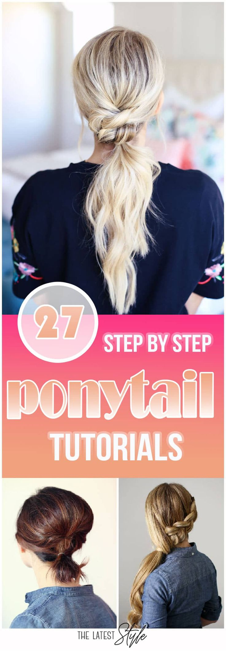25 cute ponytail tutorials that anyone can do