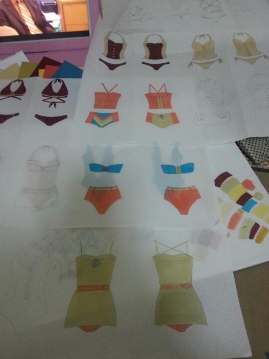 Fashion illustrations-bathing suit project