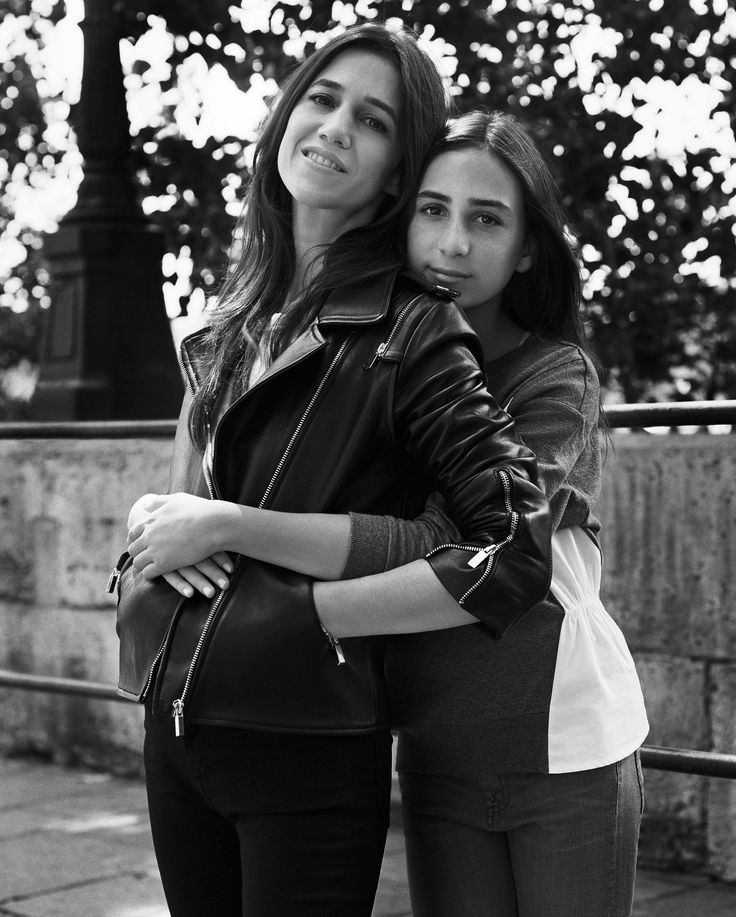 Charlotte Gainsbourg and her daughter Alice Attal for Comptoir des Cotonniers