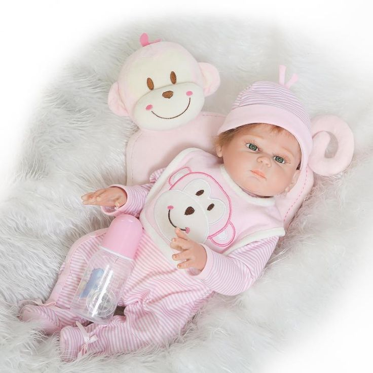 124.50$  Buy now - http://alij0s.worldwells.pw/go.php?t=32791150852 - Full Body Silicone Reborn Baby Girl Dolls Lifelike Newborn Sleeping Premie Anatomically Correct Dummy Look Real, 20-Inch