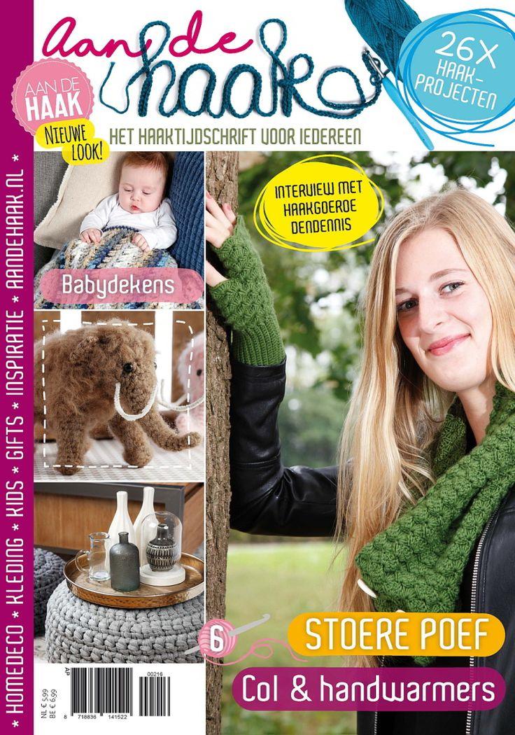 Winactie tijdschrift Aan de haak. Als trouwe lezer van Aan de haak mag ik onder mijn bloglezers 3 exemplaren van nummer 6 verloten. Meedoen? Ga naar www.piecesofme.nl