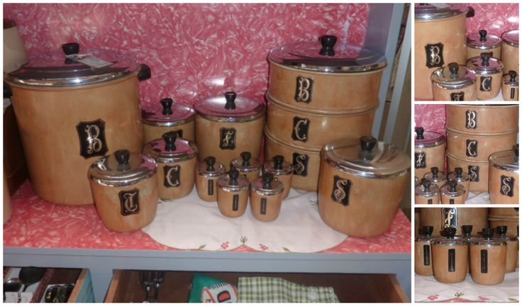 14 piece faux timber canister set... on sale now...