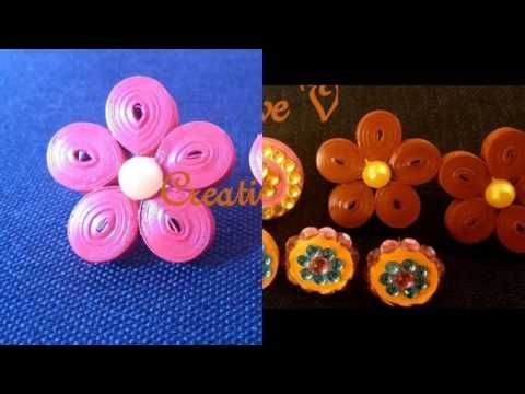 Handmade Quilling Jewelry Collection/ Part 1 - YouTube