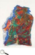 Krishen Khanna (b. 1925), Untitled (Bandwala Series), mixed media on paper