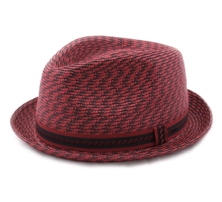 Bailey Of Hollywood Mannes Trilby Hat Size L Red