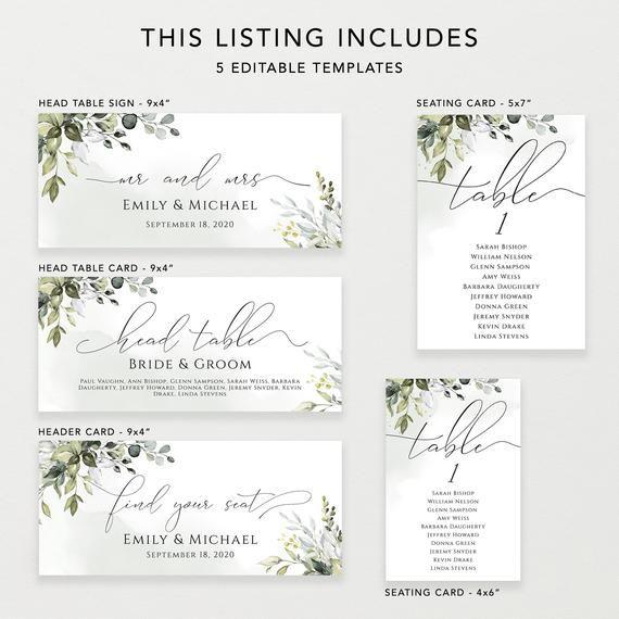 Script Elegance Wedding Seating Chart Template Wedding Table Etsy Seating Chart Wedding Seating Chart Wedding Template Seating Chart Template