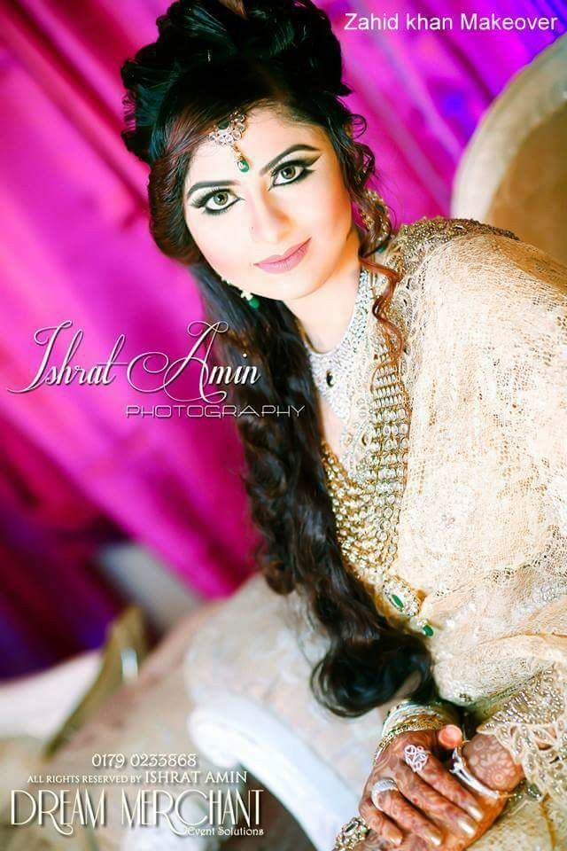 Bangladeshi bride#reception attire#zahid khan makeover