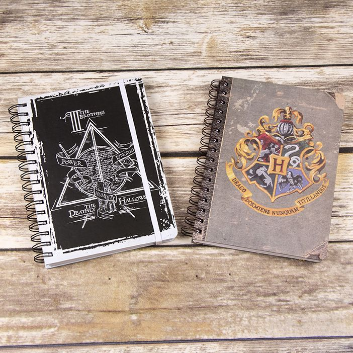 Let our magical new Harry Potter notebooks cast their spell on you.....