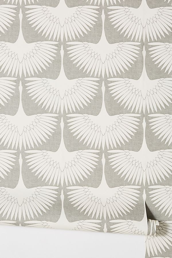 Feather Flock Chalk Wallpaper Serena And Lily Wallpaper Flock Wallpaper Lotus Wallpaper