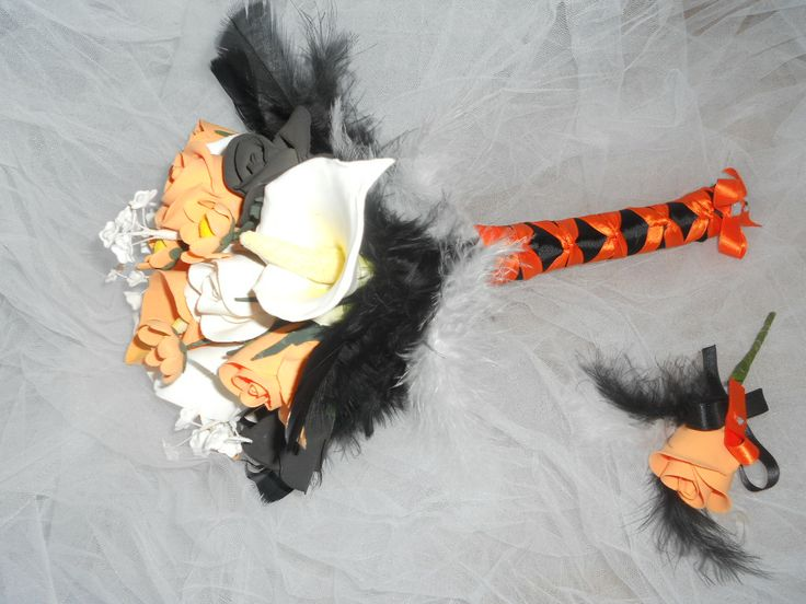 bouquet de mariage halloween