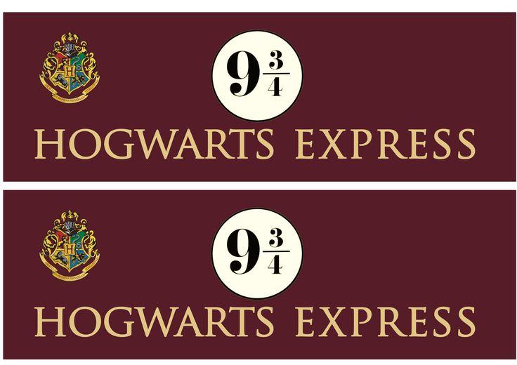 Hogwarts Express free downloadable signage via brytontaylor.com | Food in Literature
