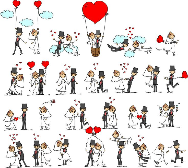 Digital Clipart 25 Bride and Groom Silhouettes Valentine's Day Clipart Heatr Scrapbooking Invitations Printable Graphic INSTANT DOWNLOAD by EmilyArtClipart on Etsy https://www.etsy.com/listing/216116684/digital-clipart-25-bride-and-groom