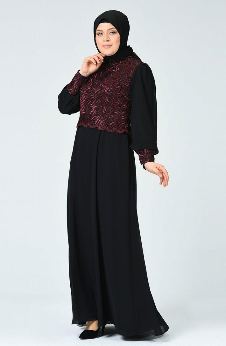 Sefamerve Buyuk Beden Simli Abiye Elbise 1313 01 Bordo 2020 Elbise Elbise Modelleri Moda Stilleri