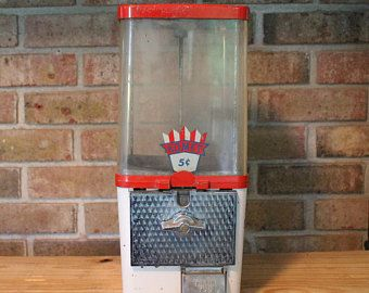Vintage Komet 5 Cent Gumball/ Candy Dispenser / Peanut Dispenser / Vending Machine Dispenser/Gumball Machine/Father's day gift