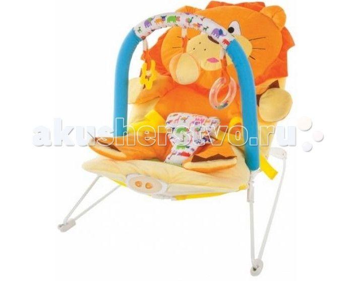 Жирафики Детское кресло-качалка Львенок  Жирафики Детское кресло-качалка Львенок с 3-мя развивающими игрушками, вибрацией и музыкой создан для младенцев. Этот замечательный шезлонг родители малыша оценят по достоинству, а ребенку в нем будет комфортно и интересно.  Изделие выполнено из высококачественного материала, безопасного для ребенка. Качалка имеет анатомическое кресло, в котором малыш находится в положении полулежа, что безвредно для неокрепшего позвоночника карапуза.  Кроме того…