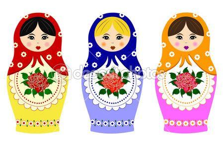 matrioska russa tradizionale — Illustrazione Stock #11543422