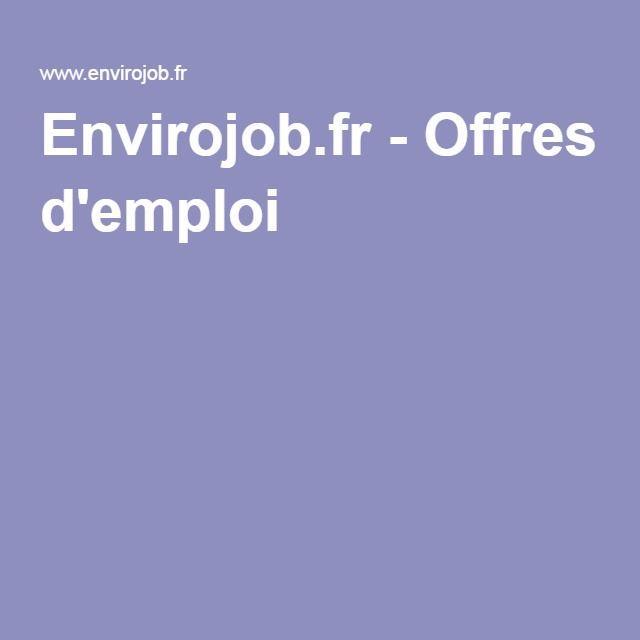 Envirojob.fr - Offres d'emploi