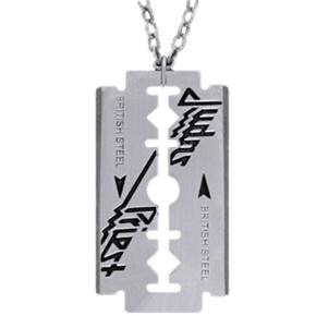 Judas Priest British Steel Razor Blade Pendant Necklace