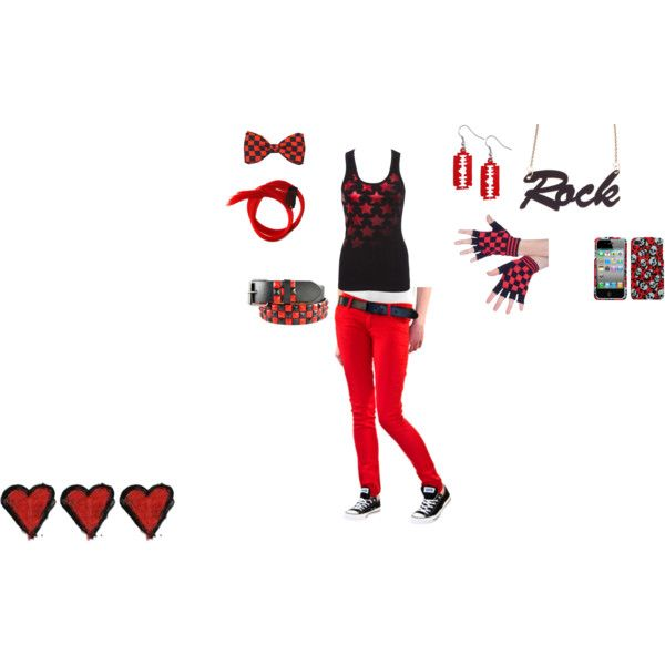 """""""red and black"""" by foreverbroken on Polyvore"""
