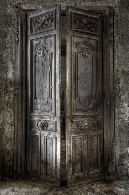 abandoned chateau~~I hate to see things wasted, such as these gorgeous doors!