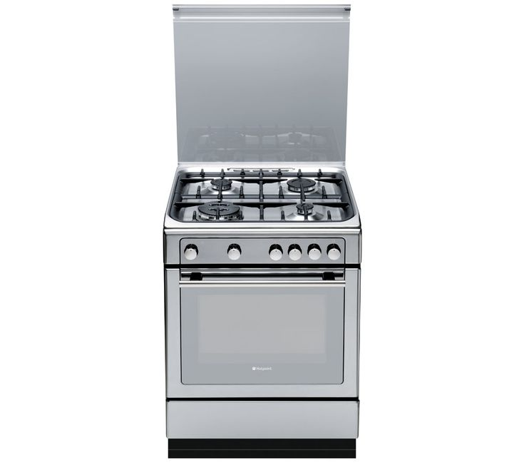 HOTPOINT DHG65SG1CX Gas Cooker - Stainless Steel, Stainless Steel: The Hotpoint DHG65SG1CX Gas Cooker in… #Electrical #HomeAppliances