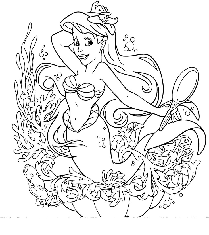 The Little Mermaid Coloring Pages Disney For Kids Thousands Of Free Printable